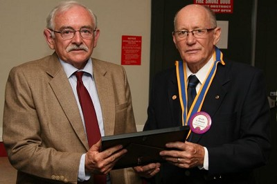 President Alan Penney thanks Judge Chair Chris McIntosh